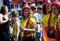 �ltima fiesta gay en Copenhague.