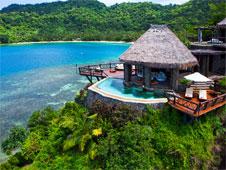 La piscina del resort Laucala Island, propiedad del due�o de Red Bull.