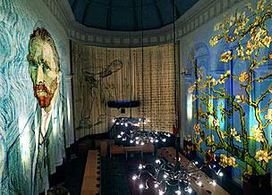 Escenario de la 'Experiencia Van Gogh' que organiza la ciudad de Etten.
