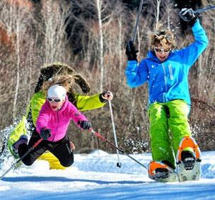 Las estaciones invernales proponen mil planes para que se diviertan las familias.