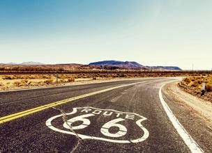 La Ruta 66 que recorre Estados Unidos es uno de los viajes m�s interesantes para descubrir el pa�s. Fotograf�a: Shutterstock