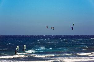 Varias instant�neas del pueblo de El M�dano relacionadas siempre con el mar y los deportes acu�ticos como el windsurf y el kitesurf. | Turismo de Tenerife