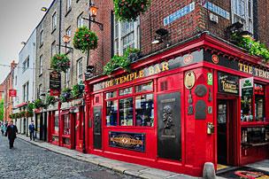 The Temple Bar es todo un clásico en Dublín. | Foto: Shutterstock